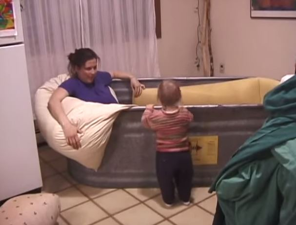 Video:  Birth in A Cow Trough??